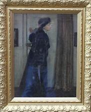 ERNEST BOROUGH JOHNSON 1866-1949 PORTRAIT ART PAINTING BRITISH EDWARDIAN OIL