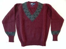 Polo by Ralph Lauren / 100% Wool / V-Neck Knit Sweater / Size: L / Deadstock