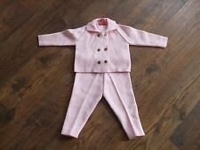 Baby girls convient âge 12-18 mois style vintage tenue babylone rose chic hiver