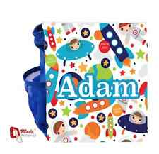 PERSONALISED CUTE SPACE DESIGN BACKPACK BAG - Gift- Any Name