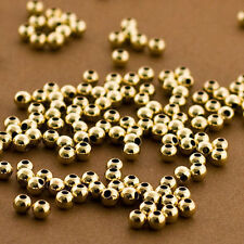 125 PCS, Gold filled Beads, 3mm Round Beads, Seamless Gold fill Beads, 14k 14/20