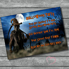 Personalised Halloween / Birthday Party Spooky  Invitation Invite Pack Of 10