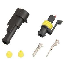10 Kit 1 Pin Conector 1.5mm Terminal Macho Hembra para Coche Moto Impermeable