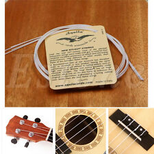 A Set of 4 Strings White Nylon Replacement Part for Ukulele Guitar NEW