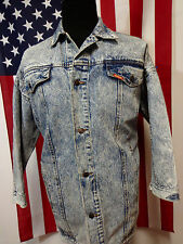 Vtg 80s Jordache Acid Wash Oversized Denim Jacket Fits men's LARGE or XL Punk
