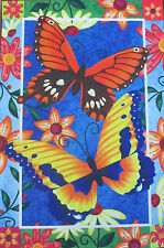"Colorful Butterfly Spring Garden Flag 12"" X 18"""