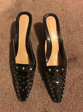 Black Pointy Heels With Studs - Size 39