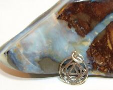 NA AA Sterling Silver Narcotics Alcoholics Anonymous Dual Recovery Pendant  503