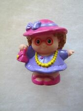Fisher Price Little People MAGGIE READY for TEA PARTY Pearls Pink Hat Rare!