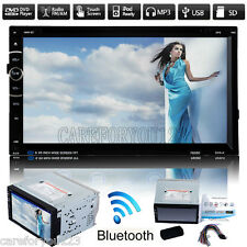"7"" Double 2Din Car Stereo CD DVD Player Bluetooth USB/SD FM/AM Transmitter Radio"