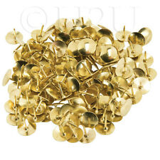 300 STRONG GOLD COLOUR BRASS HEAD PUSH CORK BOARD THUMB TACKS BOXED DRAWING PINS