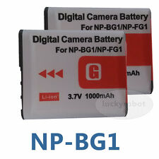 2pcs New Camera NP-BG1 Battery for Sony CyberShot H Series DSC-HX5 DSC-W300