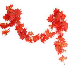 2.4M Schöne Ahornblatt -Girlande-Silk Herbst-Fall-Blätter für Garten Decor