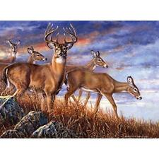 BITS AND PIECES JIGSAW PUZZLE EVENING GOLD CAROLYN MOCK 1000 PCS DEER #48928