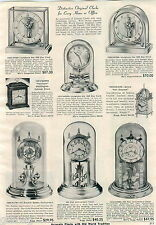1953 ADVERT Junghans Ato 1000 Day Glass Clock Nell Gwynne Salem Sea Witch