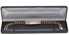 Gold POKER CHAMPION BRACELET with Swarovski Crystal Stones 8""