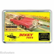 TV21 RETRO -DINKY TOYS -FAB ONE - ADVERT -THUNDERBIRDS - JUMBO FRIDGE MAGNET