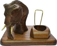 New HAND CARVED, WOODEN STAND  RACK HOLDER for 1 Smoking Pipe Made by Artisan