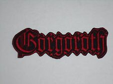GORGOROTH BLACK METAL IRON ON EMBROIDERED PATCH