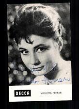 Violetta Ferrari Autogrammkarte Original Signiert ## BC 15582