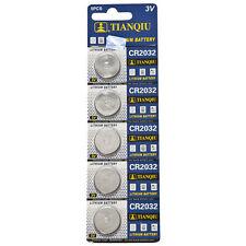Confezione 5 Batteria Pila CR2032 Bottone Tonda Litio 3V hsb