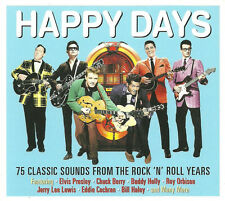 Happy Days 75 CLASSIC SONGS Rock N Roll Years BEST Music Collection NEW 3 CD