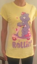 Ladies Official Care Bears Retro 80's Rollin' Scooter T-shirt Fast Post UK 10