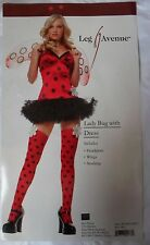 LADYBIRD COSTUME LADY BUG TUTU DRESS WINGS STOCKINGS LEG AVENUE POLKA DOT 10 12