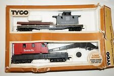 Tyco HO Scale Operating Crane Car with Boom Tender No. 932