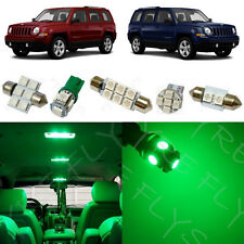 6x Green LED lights interior package kit for 2007-2015 Jeep Patriot JP1G