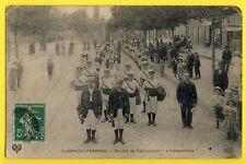 """cpa RARE 63 - CLERMONT FERRAND en 1908 Société de GYMNASTIQUE """"L'Indépendante"""""""