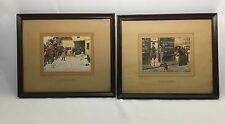 Vintage Pair of Color Prints - Pictures From Pickwick By Richard Wyman & Co.