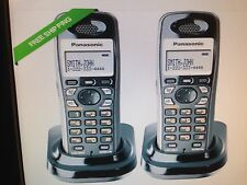 Panasonic KX-TGA931T Wall Mountable Cordless Phone DECT 6.0 1.9GHz 2 Pack