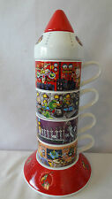 Warner Brother 1999 Space Ship Marvin the Martian W/Characters With Cups #H453