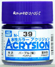 MR HOBBY GUNZE AQUEOUS ACRYSION ACRYLIC N39 Purple MODEL KIT PAINT 10ml
