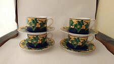 Victoria & Beale Yves 9034 Set of Four Cups & Saucers