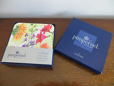 PIMPERNEL NEW BOXED SET OF SIX COASTERS. HEAT RESISTANT. CORK BACKED. EASY CLEAN
