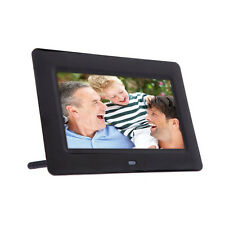 7inch HD LCD Digitaler Bilderrahmen mit Wecker Diashow MP3/4 Video Player