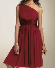 New Chiffon One Shoulder Formal Evening Cocktail Bridesmaid Dress AU Sz 6 - 20