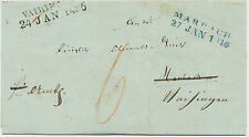 "Wurtemberg ""Bruselits/24 ene 1486"" l2 u taxe"" 6"" pra. - carta funda re-directed"