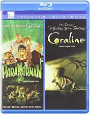 ParaNorman / Coraline Double Feature: 2 Film Collection [Blu-ray Movie Set] NEW