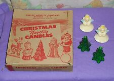 vintage Christmas GURLEY NOVELTY CANDLE ORIGINAL STORE DISPLAY BOX + 4 candles