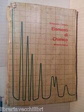 ELEMENTI DI CHIMICA Sampaolo Camoni Minerva Italica 1974 libro scuola saggistica
