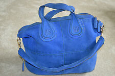 GIVENCHY Deep Blue Suede Nightingale Medium Donna Tote Spalla Borsetta