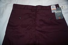 ORIGINALE Dockers Slim Fit Colore Porpora Pantaloni Chino Color Cachi Piatto Anteriore w33 l30