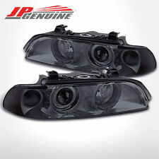 SMOKE DUAL HALO CRYSTAL STYLE PROJECTOR HEADLIGHTS - BMW E39 5-SERIES 97-03