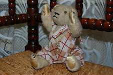Antique 1960s Woolen Little Bear 8.5 inch Rare Cute Baby Bear Fully Jointed