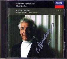 Vladimir ASHKENAZY Signiert STRAUSS Violin Oboe Concerto Boris BELKIN CD Dimitri