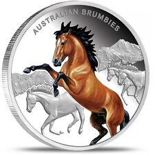 "Niue $1 2014 ""Legendary Horses of Australia - Australian Brumbies"" Proof Silver"