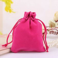 1PCS Velvet Drawstring Jewelry Gift Bags Pouches Pockets Jewellery Wedding -Rose
